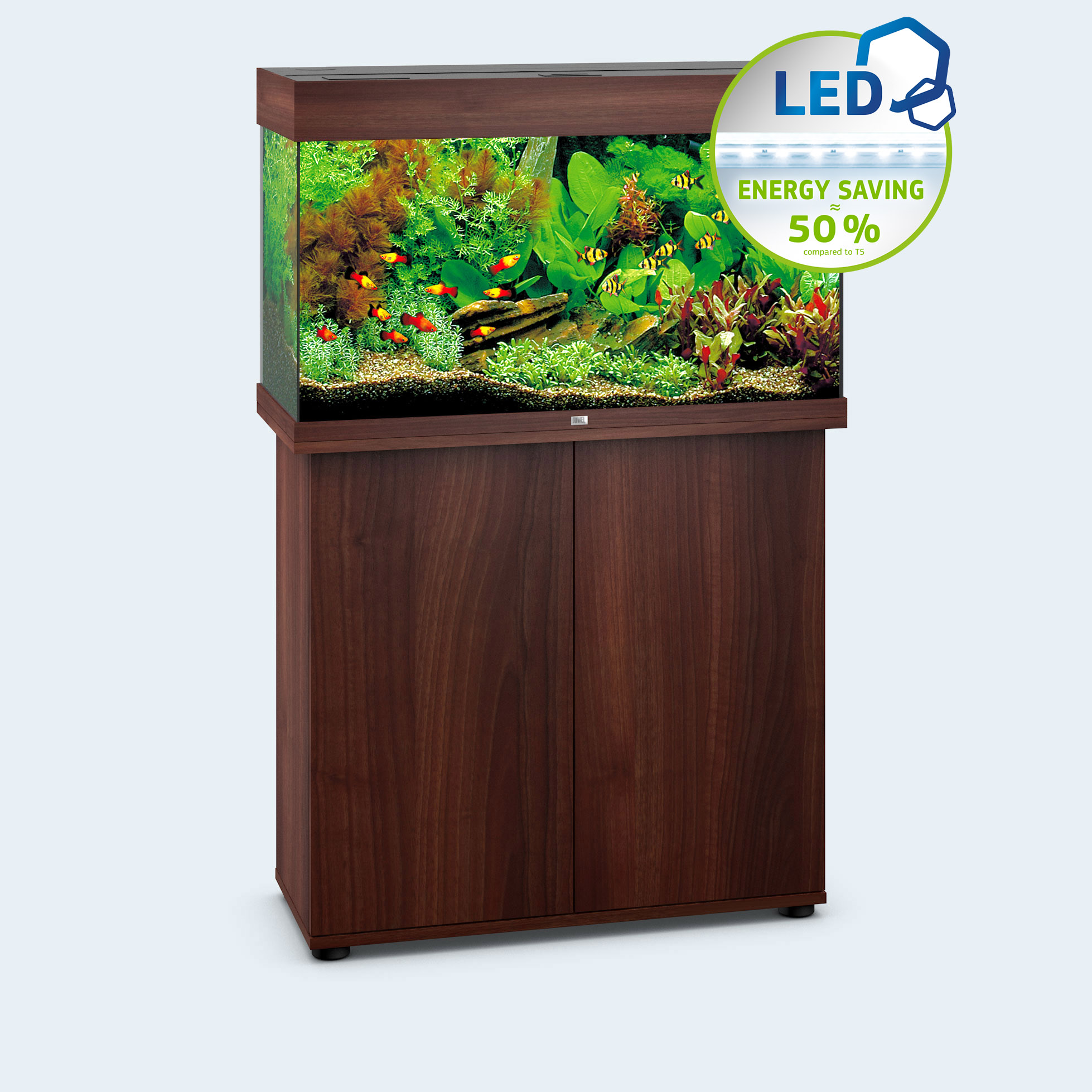 Juwel rio 125 led noce supporto 81 36 73 exoticastore for Vendita on line acquari